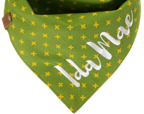Green Yellow Swiss Cross Puppy Bandana
