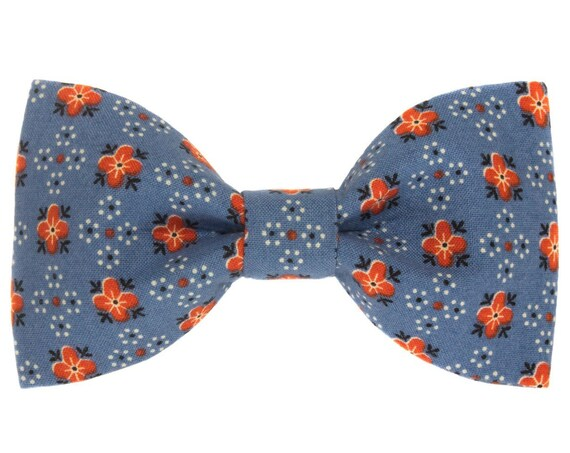 Blue and Red Dog Bowtie