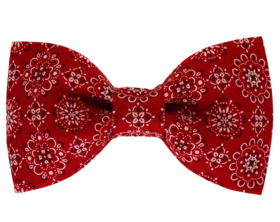 Classic Red Bandana Dog Bow Tie
