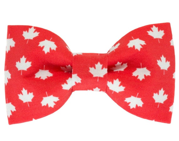 Canada Day Pet Bowtie