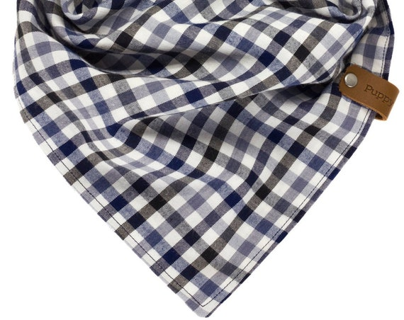 Personalized Gingham Dog Bandana