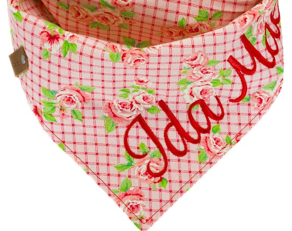 Personalized Floral Puppy Scarf