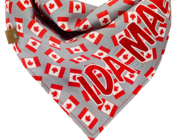 Personalized Canada Day Dog Bandana