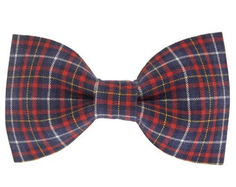 f8848204dcb1 Blue Red Plaid Dog Bowtie, Preppy Puppy Bow Ties, Classic Bow Tie Dogs,  Cotton Pet Collar Accessory, Cute Doggie Gift, Fun Doggy Accessories