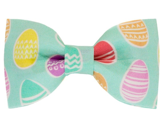 Easter Eggs Dog Bowtie