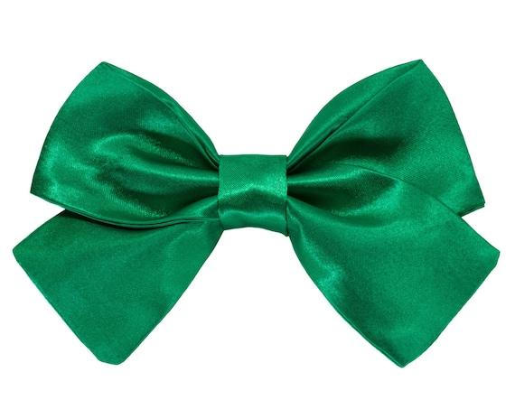 Wedding Dog Green Satin Girl Bowtie