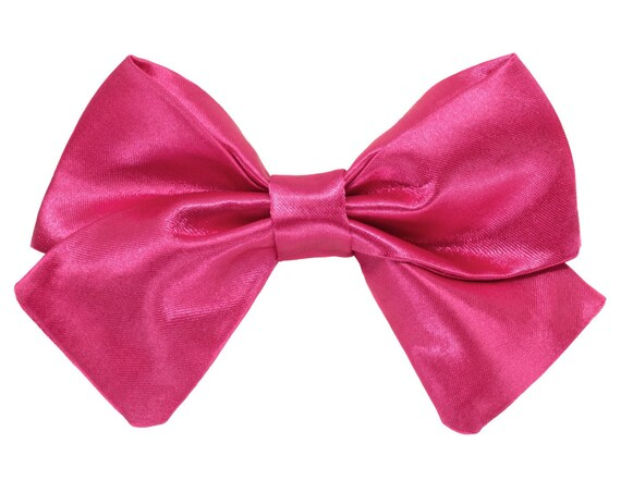 Wedding Dog Pink Satin Girl Bowtie