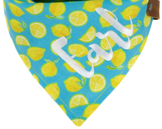 Summer Lemonade Dog bandana