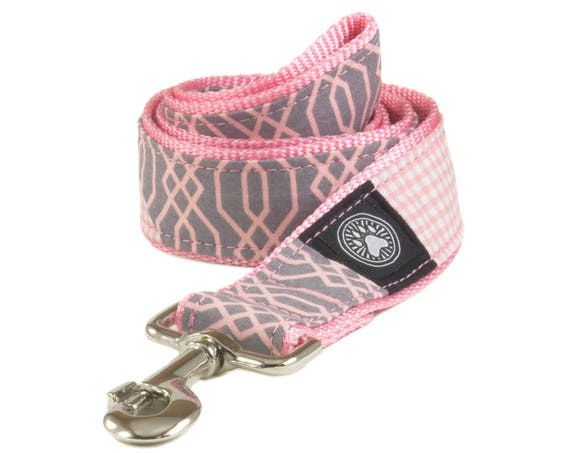 Pink Grey Dog Leash
