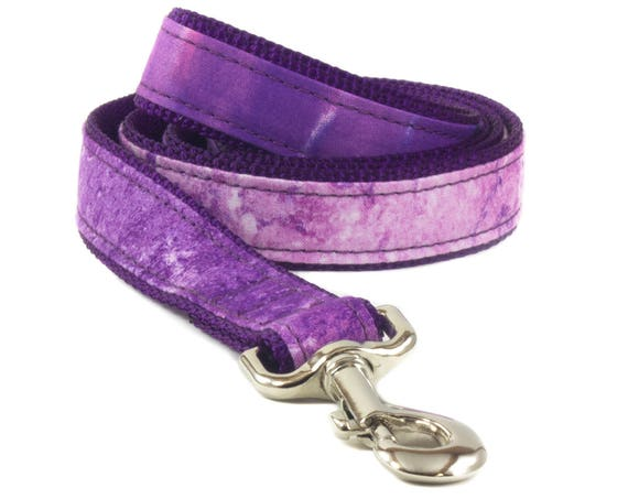 Purple Marble Dog Leash