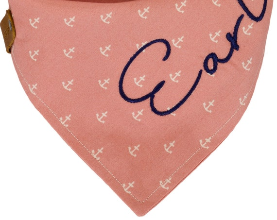 Blush Pink Nautical Dog Bandana