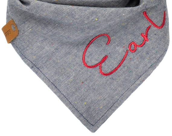 Personalized Chambray Dog Bandana