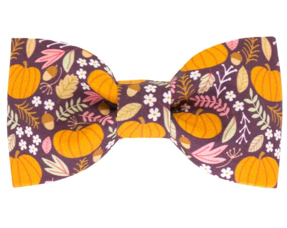 Fall Autumn Dog Bow Tie