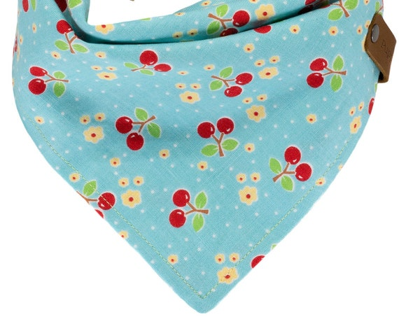 Personalized Turquoise Cherries Puppy Scarf