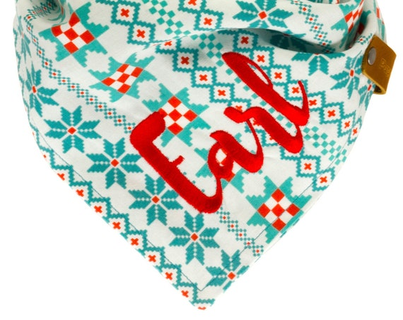 Christmas Dog Bandana, Nordic Puppy Scarf, Winter Pet Bandanna, Ugly Sweater Kerchief for Dogs, Holiday Doggy Neckerchief, Stocking Stuffer