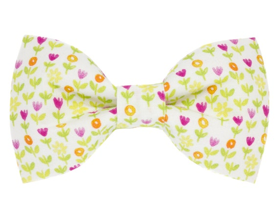 Spring Flowers Dog Bow Tie