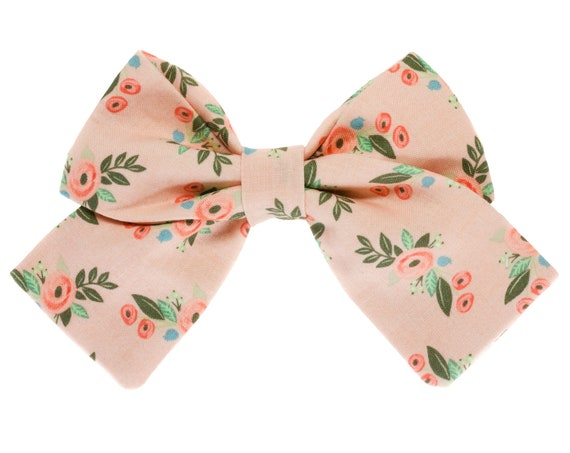 Blush Floral Girl Sailor Bowtie Dogs