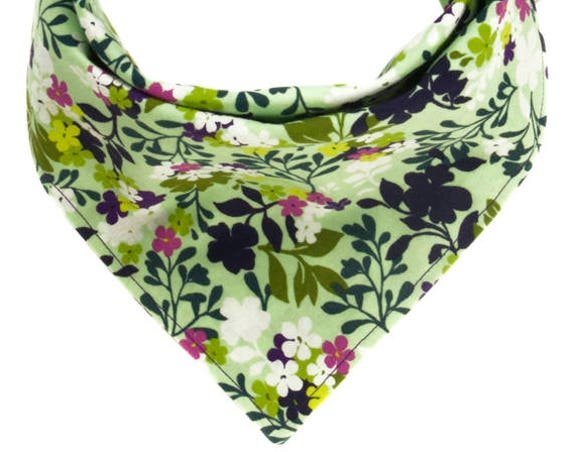 Dog Scarf with Flowers