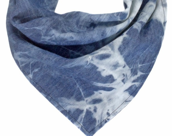 Denim Tie Dye Dog Scarf