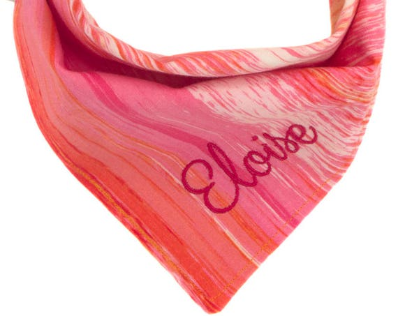 Pink Personalized Pet Scarf