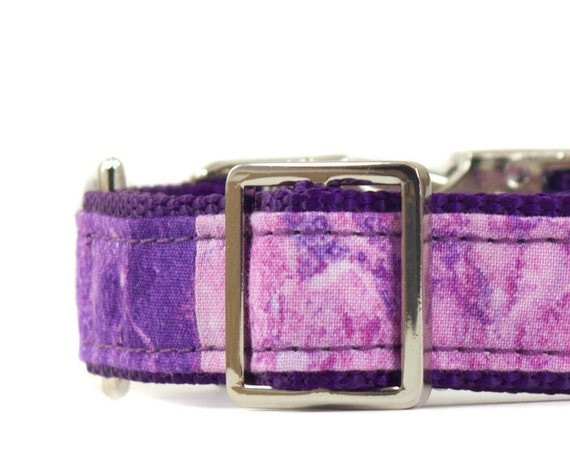 Purple Marble Dog Collar