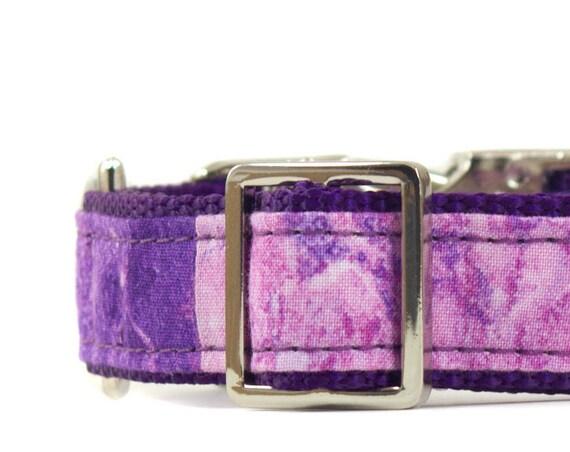 Purple Marble Dog Collar