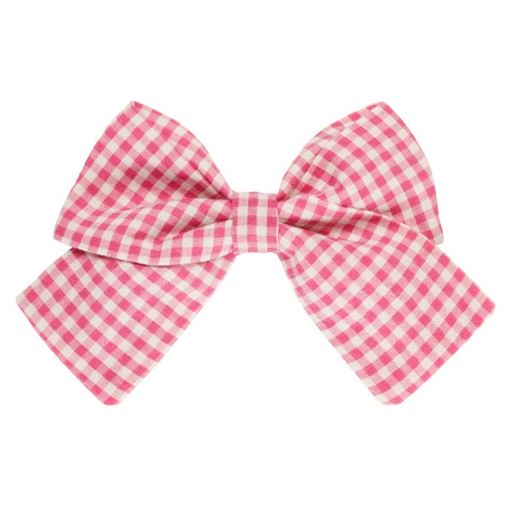 Pink Gingham Girl Dog Sailor Bowtie