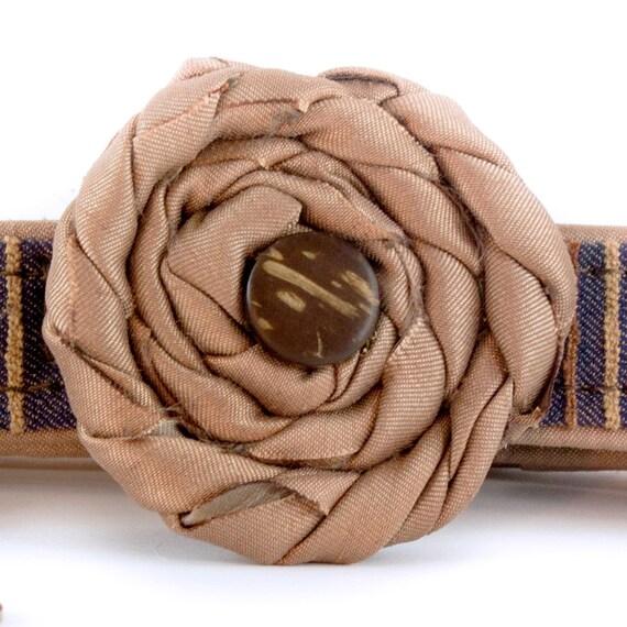 Dog Collar Flower, Flower for Dogs, Brown Flower, Collar Accessory, detachable flower, Dog Collar Accessories, Tan Collar Accessory , Casual