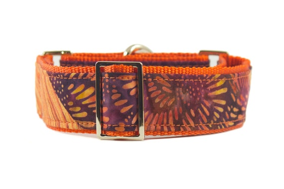 Batik Dog Martingale Collar