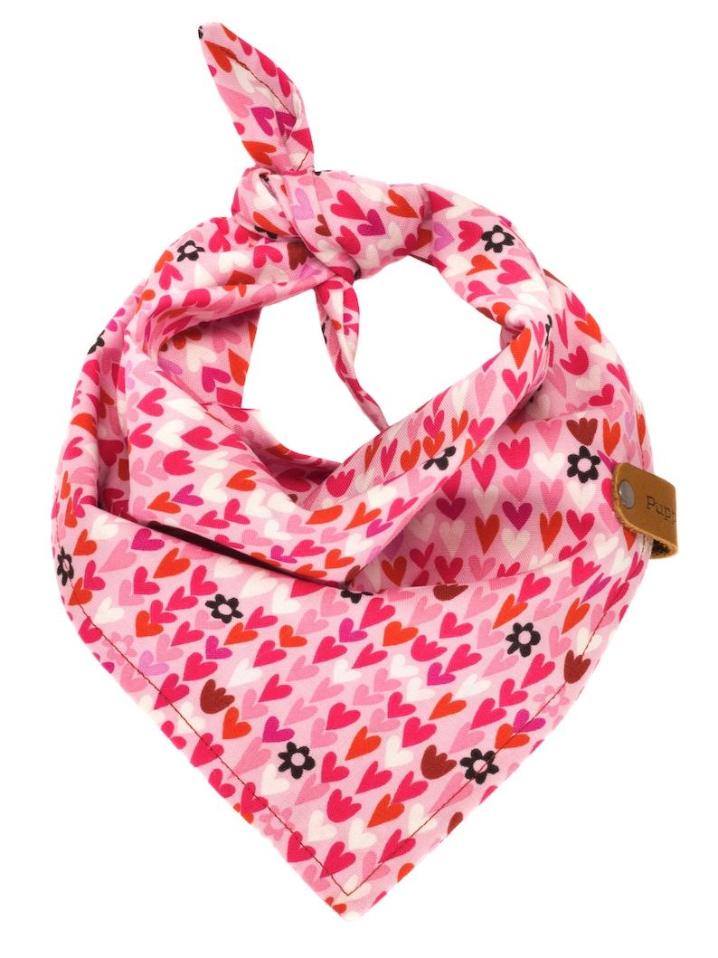 Custom Valentine Gift Girl Pets Pretty Girly Doggie Pink Red Violet Puppy Scarf Hearts Valentine/'s Dog Bandana Heart Love Neckerchief