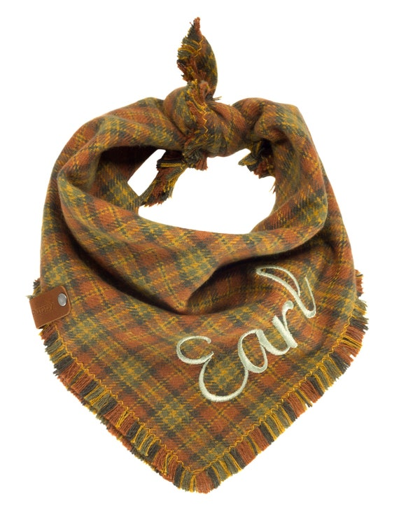 Plaid Flannel Dog Bandanas
