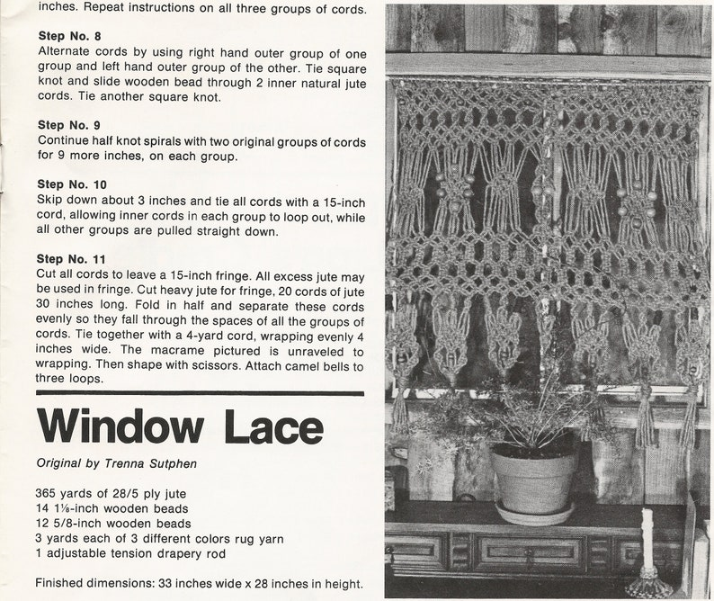 feat Vintage macrame magazine Macrame Masterpieces and more projects Spiral Staircase Lion/'s Cradle Digital download in PDF format