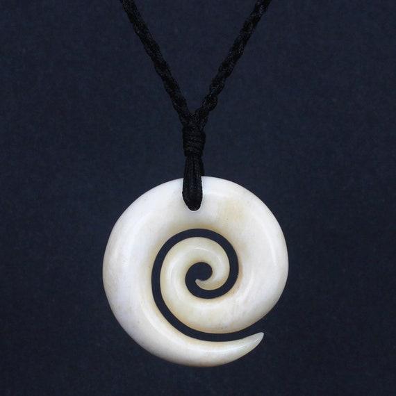 Xkchief Free Shipping Maori Koru Pendant Nz Necklace Carving Etsy