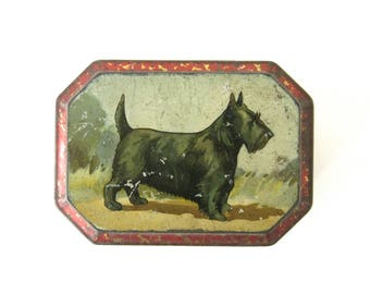VINTAGE TERRIER TIN - Very sweet and collectable Scottish Terrier design