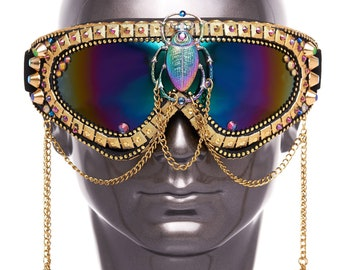 Playa Goggles- Golden Scarab