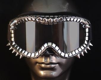 Ski Goggles- Silver Spike