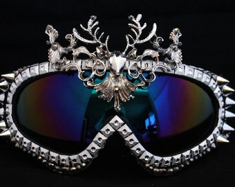 Playa Goggles- Silver Stag