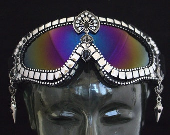 Playa Goggles- Silver Deco