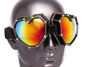 Playa Goggles, 3D Pixel Heart Goggles