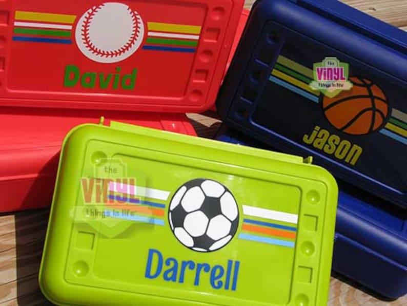 Sports pencil case Back to school Baseball pencil box Personalized school supplies Baseball Boys pencil box Pencil box for boys