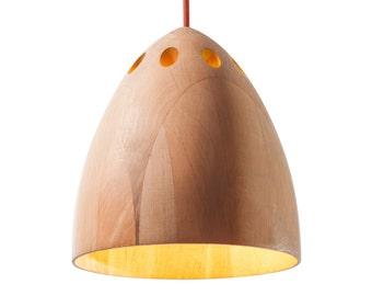 Pendant wooden lamp Sliva