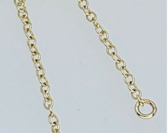 9ct Yellow Gold 63.5mm Vintage Safety Chain Jewellery Making Spares Repairs 0.2g