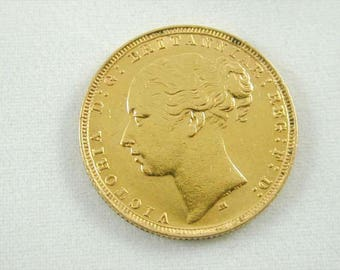 Full antique Victorian sovereign minted 1884 Melbourne