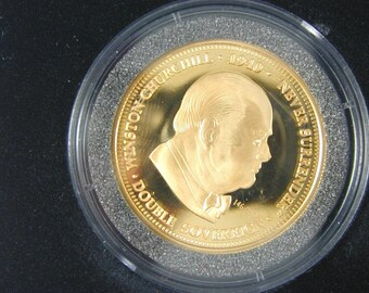 TDC Churchill 70th Anniversary Double Soverign Coin 1940 with Certificate