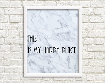 This is my happy place Marble Printable Modern Prints Marble Prints Printable Marble Art  Instant Download Printable Decor