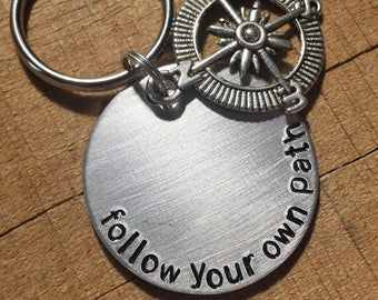 Inspirational Gift - Inspirational Keychain - Graduation Gift - Be Yourself - Believe in Yourself - Mantra Keychain - Inspirational Keyring
