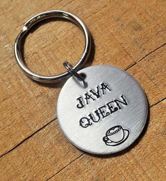 Albero Di Natale Java.Coffee Keychain Coffee Key Ring Java Queen Java Gift Coffee Gift Coffee Drinker Coffee Key Chain Java Key Ring