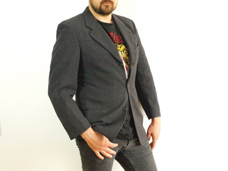874265bc8ca Vintage Hugo Boss suit jacket blazer Size M Eur 48 Us 38 | Etsy