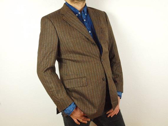 Jahrgang Hugo Boss Anzug Größe Eur 50 uns 40 braun Merino   Etsy 9c71ff9017