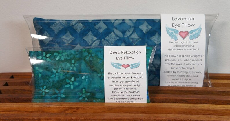 Lavender and Deep Relaxation Yoga Eye Pillow SET image 0